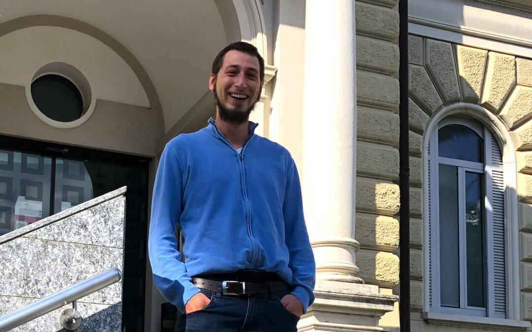 Martin Fomasi, a Ph.D. student